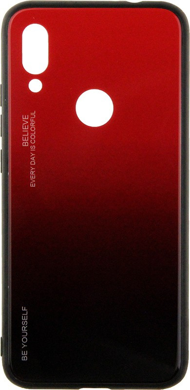 Чехол-накладка TOTO Gradient Glass Case Xiaomi Redmi 7 Red #I/S