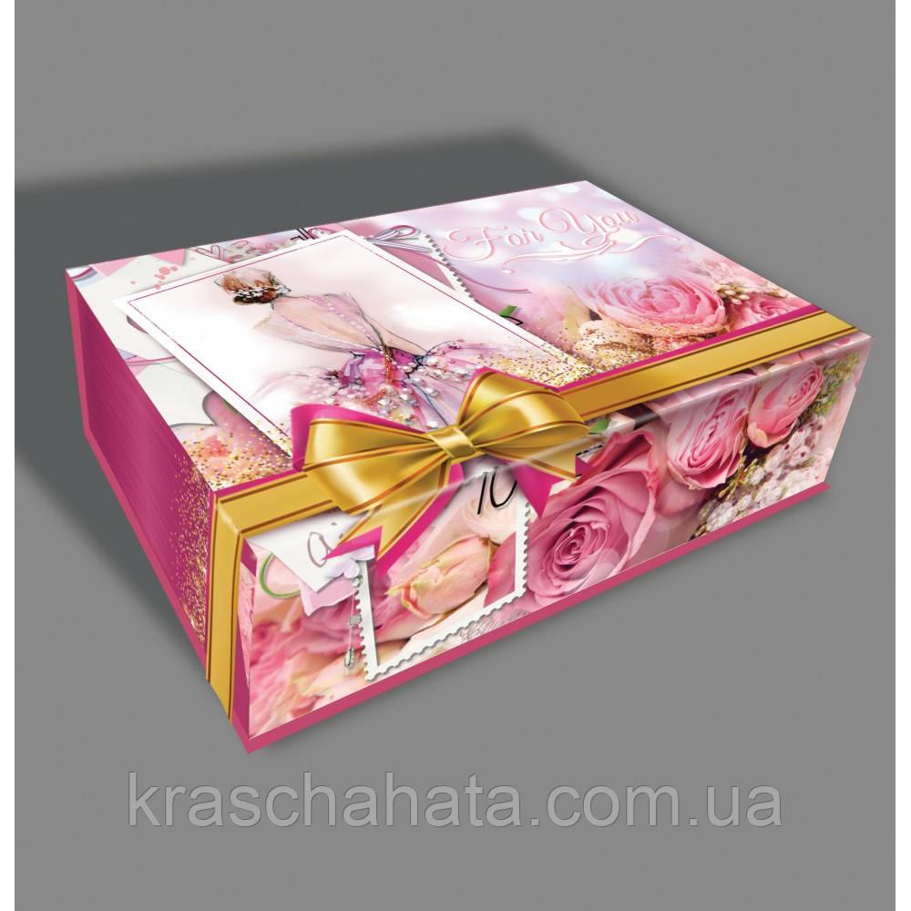 Подарочная картонная упаковка, картонная коробка с крышкой, подарочная упаковка люкс