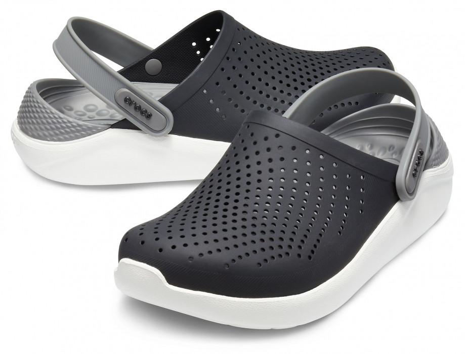 Кроксы Crocs LiteRide™ Clog черно-серые 42 р.