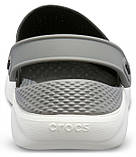 Кроксы Crocs LiteRide™ Clog черно-серые 42 р., фото 5