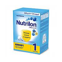 Суміш молочна Nutrilon Комфорт 1, 0+, 600г