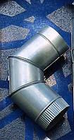 Воздуховоды для вентиляции из оцинкованной стали. Колено 90 градусов d110.