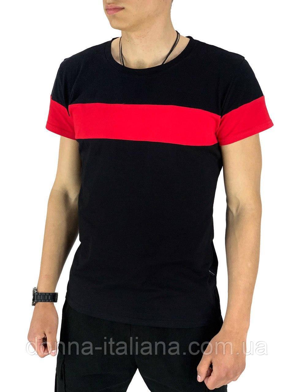 Футболка Intruder Color Stripe L Черный с красным (1589369461/ 2)