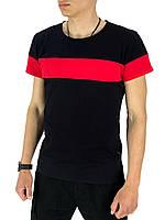 Футболка Intruder Color Stripe L Черный с красным (1589369461/ 2), фото 1
