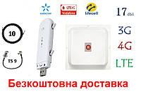 Полный комплект 4G/LTE/3G WiFi Роутер ZTE MF79u + MiMo антенной 2×17 dbi под Киевстар, Vodafone, Lifecell