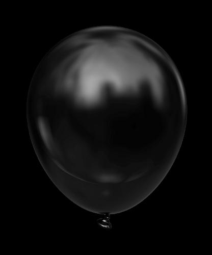 """Воздушные шары 5 STD Черный (black) Пастель В упак:100шт. Пр-во""""Kalisan"""" Турция"""