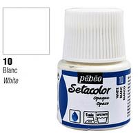 Фарба текстильна по світлій та темній тканині Pebeo Setacolor Opaco 45мл БІЛИЙ