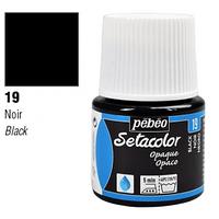 Фарба текстильна по світлій та темній тканині Pebeo Setacolor Opaco 45мл ЧОРНИЙ