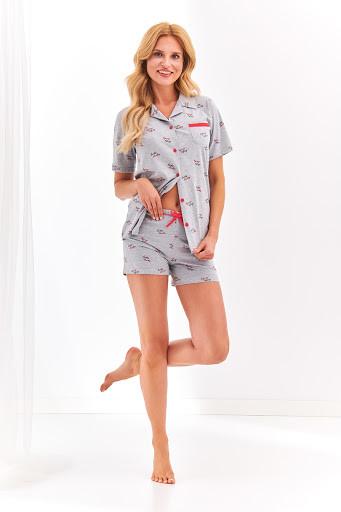 Комплект женский Taro 2154 Amy (футболка+шорти), S, сірий