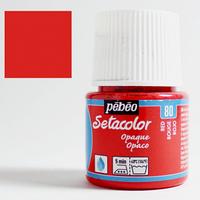 Фарба текстильна по світлій та темній тканині Pebeo Setacolor Opaco 45мл ЧЕРВОНИЙ