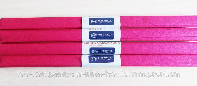 Бумага крепированная INTERDRUK (50см*200см), бордовый №09 (10шт/уп)