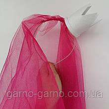 Фата на девичник на ободке обруче ободочке малиновая розовая красная белая корона
