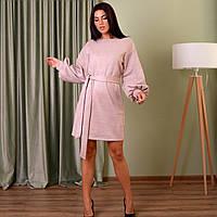 Сукня вільного силуету з об'ємними рукавами