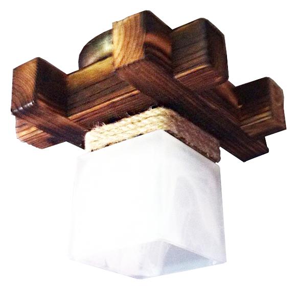 Деревянная люстра потолочная на 1 плафон 915511