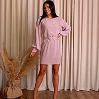Молодіжне замшеве плаття ніжного кольору