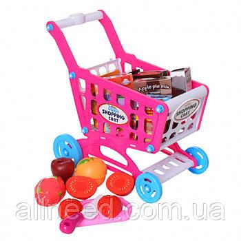 Дитячий візок для покупок з продуктами на липучках