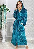 Халат женский махровый длинный (халат банный женский) S, M, XL