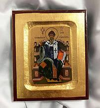 Ікона Святителя Спиридона Триміфунтського 13х10.5см (Греція)