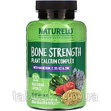 NATURELO, Bone Strength, Plant-Based Calcium Complex, 120 Vegetarian Capsules