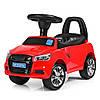 Каталка-толокар M 3147A (MP3)-3 багажник під сидінням, муз., бат., червоний, 63,5-37-29 см.