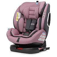 Автокрісло дитяче ME 1079 ABSOLUTE Royal Violet група 0+123, 360 град, isofix, льон, фіолетовий.