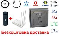 Полный комплект Huawei E3372h +Netis MW5230+ Антенна планшетная 4G/LTE/3G 17 дбі (824-2700 мГц)