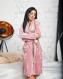Жіночий плюшевий халат велюровий 50-637, фото 2
