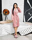 Жіночий плюшевий халат велюровий 50-637, фото 6