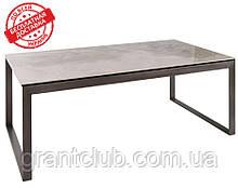 Стол журнальный BRIGHTON R (Брайтон) 120*65*45 см керамика светло-серый глянец Nicolas (бесплатная доставка)