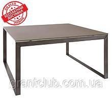 Стіл журнальний BRIGHTON S скло мокко (90х90х45 см) Nicolas (безкоштовна доставка)