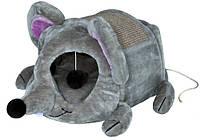 """Будиночок Trixie """"Lukas"""", з дряпкой, хутра, сірий, 35х33х65 см"""