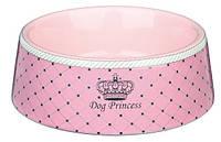 Миска Trixie Dog Princess, керамическая, розовая, 0,18л/12см, 24581