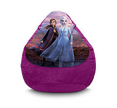 "Кресло мешок ""Frozen. Elsa and Anna"" Флок"