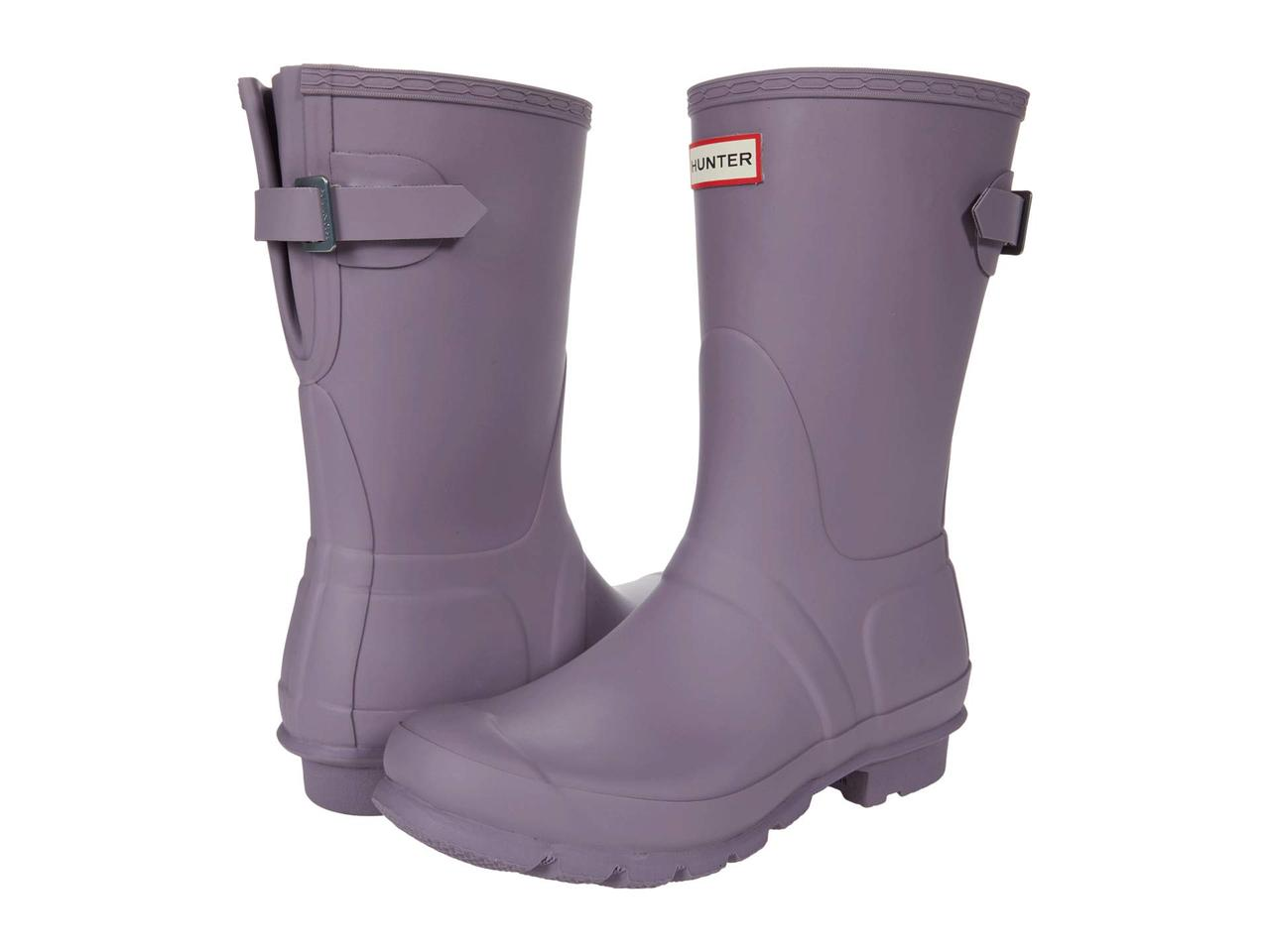 Ботинки/Сапоги (Оригинал) Hunter Original Short Back Adjustable Rain Boots Purple Top