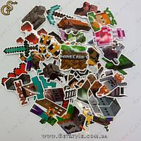 "Набор наклеек Майнкрафт - ""Minecraft Set"" - 50 шт"