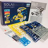 Конструктор робот STEM SOLAR ROBOT на солнечной батарее RoboKit 11 в 1 Оригинал
