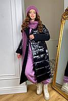 """пальто женское Modus """"СанреМакси"""" зимнее пальто из кашемира и плащевки 10084, фото 1"""