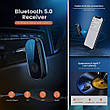 Bluetooth-адаптер Ugreen CM279 Bluetooth 5.0 приемник адаптер 3.5мм с микрофоном, с Aptx, фото 4