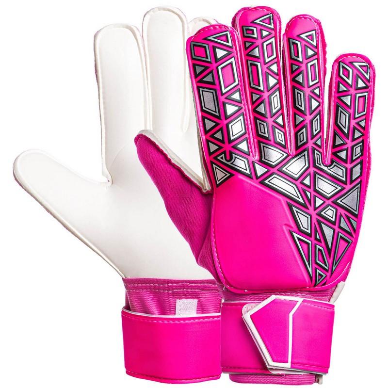 Перчатки вратарские с защитными вставками на пальцы малиновые FB-888, 10