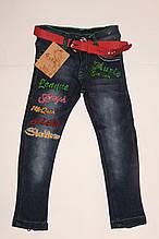 Брюки джинсовые на флисе на девочку 2 года
