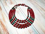 Намисто Панянка из Коралла и Лавы, натуральный камень, цвет красный и его оттенки, тм Satori \ Sk - 0103, фото 8