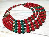 Намисто Панянка из Коралла и Лавы, натуральный камень, цвет красный и его оттенки, тм Satori \ Sk - 0103, фото 10