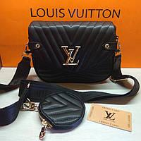 Сумка жіноча Louis Vuitton Луї Віттон чорна репліка