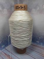 Нитка № 187х3х3 (2.2 мм) вес 1.3 кг крутка Z, фото 1