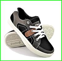 Мужские Кроссовки Кеды Мокасины Черные (размеры: 40,42,43,45)