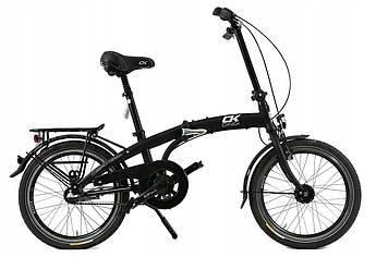 Складной алюминиевый велосипед Cossack 20 black Польша