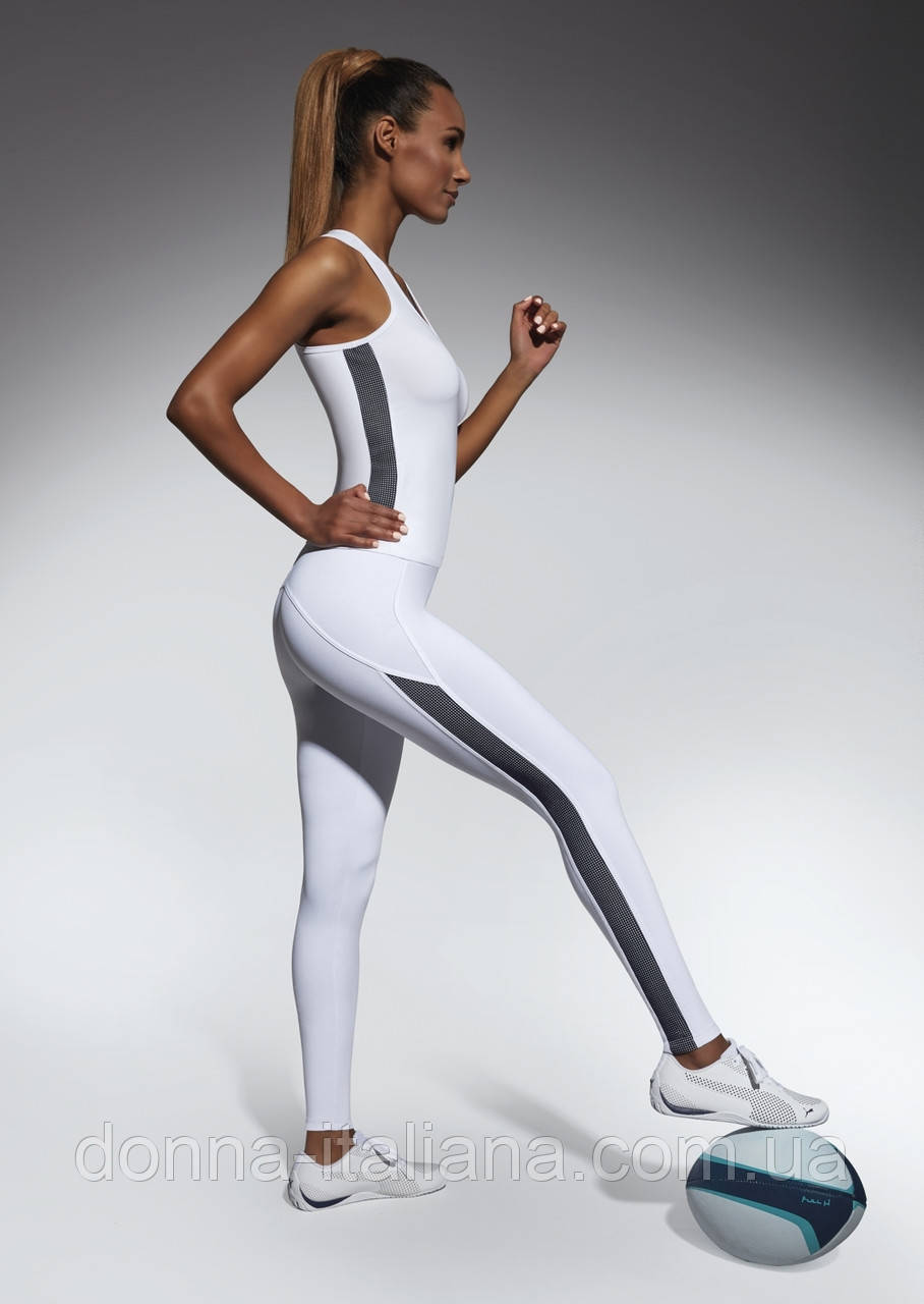 Женский костюм для фитнеса Bas Bleu Imagin S Белый с черным (bb0158)