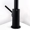 Высокий смеситель для кухни черный однорычажный AQUAMARIN WAVE 390 ONX для гранитной мойки, фото 5