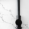Однорычажный высокий смеситель для кухни черный гранит из нержавеющей стали AQUAMARIN Nautilus 370 ONX, фото 4