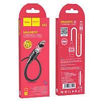 "Кабель  USB  для  Iphone-5 /6 "" HOCO X52 Sereno magnetic"" 1 м (2,4 А) Black Магнитный"